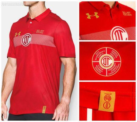 Toluca FC 100th Anniversary Under Armour Soccer Jersey, Shirt, Football Kit, Camiseta de Futbol, Aniversario