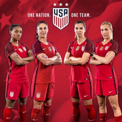 USA 2017 Nike Red Soccer Jersey, Football, Kit, Shirt, Camiseta de Futbol, Playera Roja, Equipacion