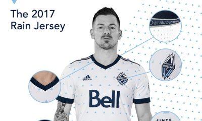 "Vancouver Whitecaps 2017 adidas Home ""Rain"" Soccer Jersey, Football Kit, Shirt"
