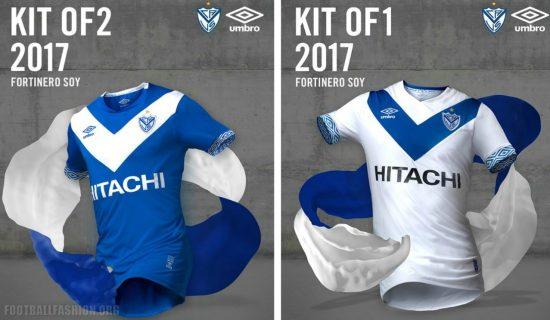 Vélez Sarsfield 2017 Umbro Home and Away Football Kit, Soccer Jersey, Shirt, Camiseta de Futbol, Playera