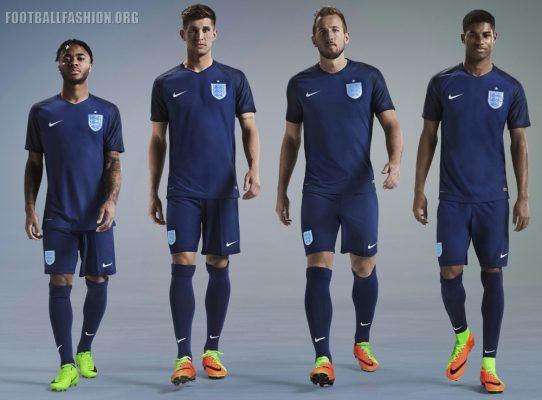 England 2017 Nike Away Football Kit, Soccer Jersey, Shirt