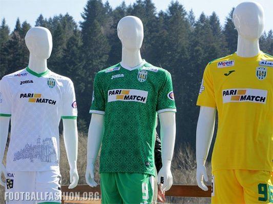 FC Karpaty Lviv 2017 2018 Joma Home, Away and Third Football Kit, Soccer Jersey, Shirt, Forma