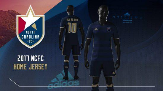 North Carolina FC 2017 adidas Soccer Jersey, Shirt, Kit, Camiseta de Futbol