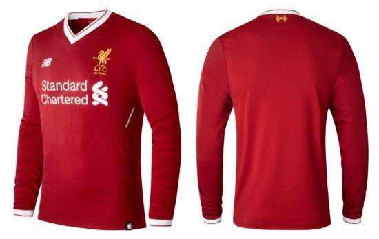 Liverpool FC 125th Anniversary 2017 2018 New Balance Home Football Kit, Soccer Jersey, Shirt, Camiseta, Camisa, Maillot, Trikot