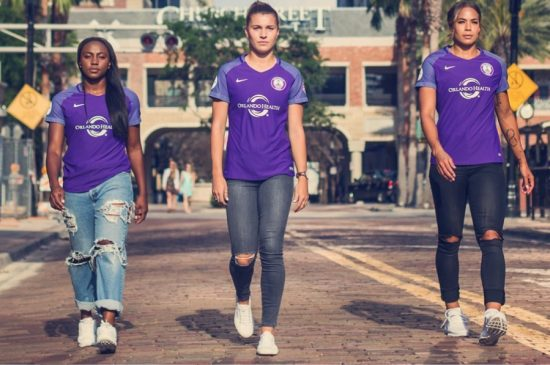 Orlando Pride 2017 Nike Home Soccer Jersey, Shirt, Kit, Camiseta NWSL
