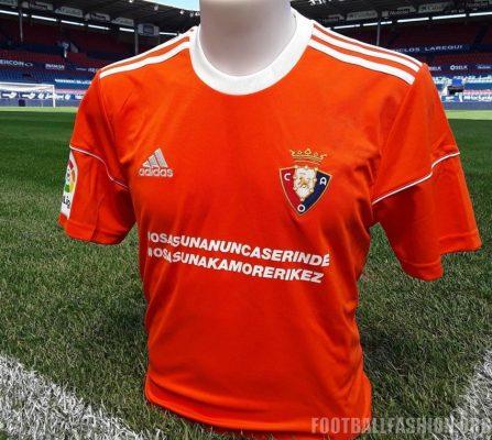 Osasuna 2017 Special Edition adidas Kit Against FC Barcelona, Camiseta Naranja Especial