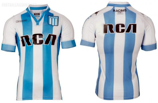 Racing Club 2017 2018 Kappa Home and Away Football Kit, Soccer Jersey, Shirt, Camiseta de Futbol, Equipacion