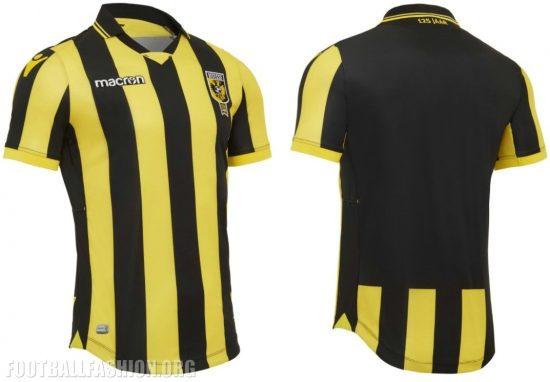 Vitesse 2017 2018 Macron Home Football Kit, Soccer Jersey, Shirt, Thuisshirt, Tenue