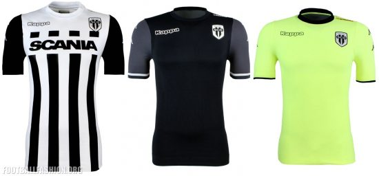 Angers SCO 2017 2018 Kappa Home, Away and Third Football Kit, Soccer Jersey, Shirt, Maillot