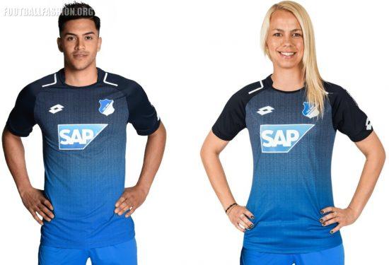 TSG 1899 Hoffenheim 2017 2018 Lotto Home Football Kit, Soccer Jersey, Shirt, Trikot, Heimtrikot