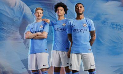 Manchester City FC 2017 2018 Blue Nike Home Football Kit, Shirt, Soccer Jersey, Maillot, Camiseta, Camisa, Trikot, Tenue