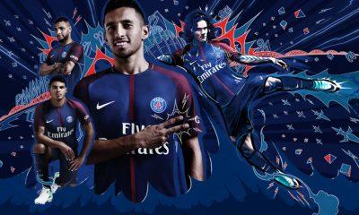 Paris Saint-Germain 2017 2018 Nike Home Football Kit, Soccer Jersey, Shirt