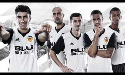 Valencia CF 2017 2018 adidas Home Football Kit, Soccer Jersey, Shirt, Camiseta de Futbol, Camisa, Equipacion