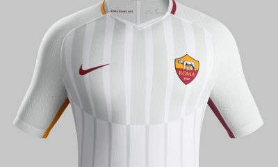 AS Roma 2017 2018 Nike White Away Football Kit, Soccer Jersey, Shirt, Gara, Maglia, Maillot, Trikot
