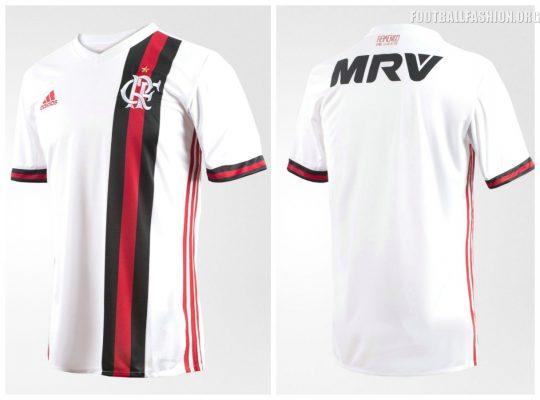CR Flamengo 2017 2018 adidas Away Football Kit, Soccer Jersey, Shirt, Camisa, Camiseta