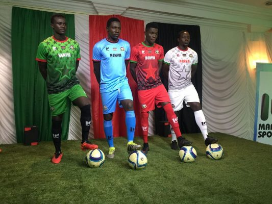 Kenya 2017 2018 Mafro Home, Away and Third Football Kit, Soccer Jersey, Shirt