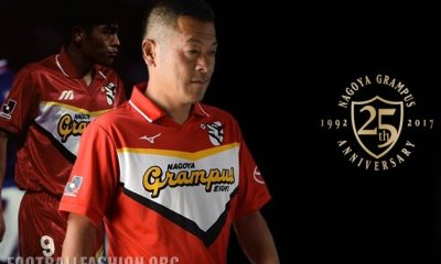 Nagoya Grampus 2017 25th Anniversary Mizuno Football Kit, Soccer Jersey, Shirt