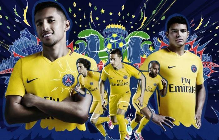 pretty nice a14f2 89226 Paris Saint-Germain 2017/18 Nike Away Kit - FOOTBALL FASHION.ORG