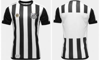 Santos FC 2017 Kappa Home Football Kit, Soccer Jersey, Shirt, Camisa do Futebol