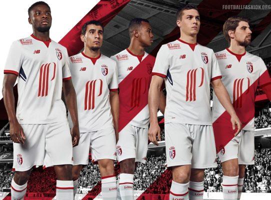 Lille OSC 2017 2018 New Balance Home, Away and Third Football Kit, Soccer Jersey, Shirt, Maillot