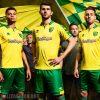 Norwich City 2017 2018 Errea Home and Away Football Kit, Soccer Jersey, Shirt
