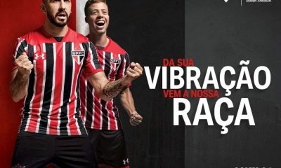 São Paulo FC 2017 Under Armour Away Soccer Jersey, Football Kit, Shirt, Camiseta de Futbol, Camisa II do Futebol
