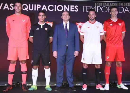 Sevilla FC 2017 2018 New Balance Football Kit, Soccer Jersey, Shirt, Camiseta de Futbol, Equipacion, Maillot, Trikot, Tenue
