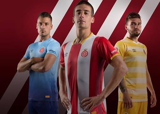 Girona FC 2017 2018 Umbro Football Kit, Soccer Jersey, Shirt, Camiseta, Camisa, Equipacion, Equipació