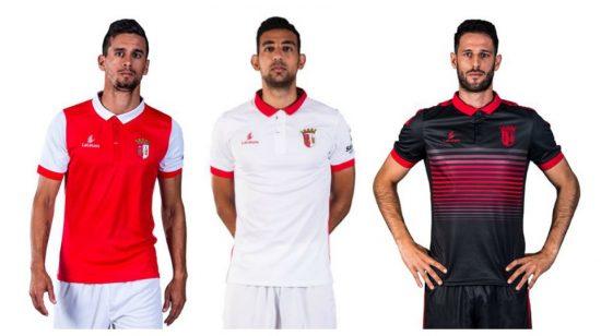SC Braga 2017 2018 Lacatoni Home, Away and Third Football Kit, Soccer Jersey, Shirt, Camisa, Camisola