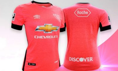 LDU Quito 2017 2018 Pink Football Kit, Soccer Jersey, Shirt, Camiseta de Futbol,Rosada