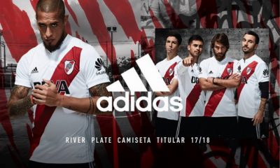 River Plate 2017 2018 adidas Home Football Kit, Soccer Jersey, Shirt, Camiseta, Equipacion, Playera