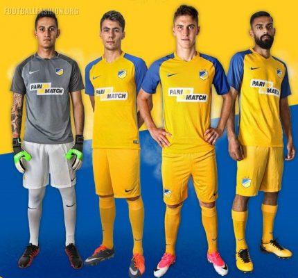 APOEL FC 2017 2018 Nike Home, Away and Third Football Kit, Soccer Jersey, Shirt, Camiseta, Trikot