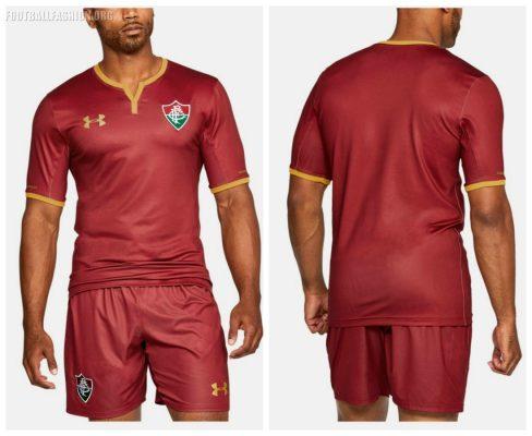 Fluminense FC 2017 2018 Under Armour Third Football Kit, Shirt, Soccer Jersey, Camisa III, Camiseta