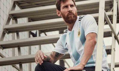 Argentina 2018 World Cup adidas Home Football Kit, Soccer Jersey, Shirt, Camiseta, Equipacion, Copa Mundial