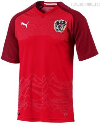 Austria 2018 2019 PUMA Home Football Kit, Soccer Jersey, Shirt, Österreich Heim Trikot