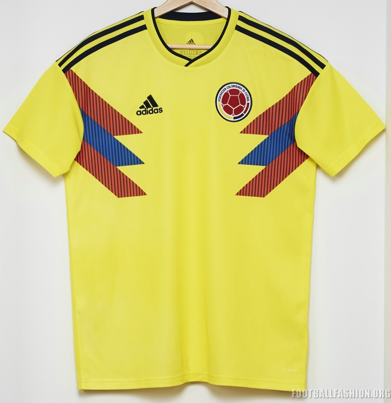 Colombia 2018 World Cup Adidas Home Kit | 1718 Kits