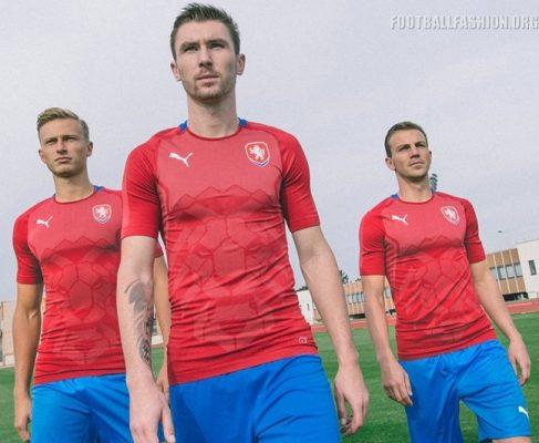 Czech Republic 2018 2019 Red Home Football Kit, Soccer Jersey, Shirt, nové dresy pro