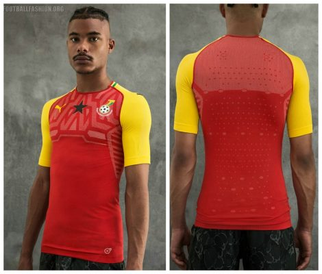Ghana 2018 2019 PUMA Home Football Kit, Soccer Jersey, Shirt