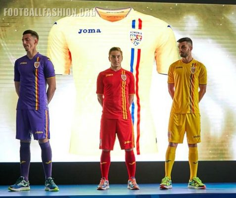 Romania 2018 Joma Home and Away Football Kit, Soccer Jersey, Shirt, echipament