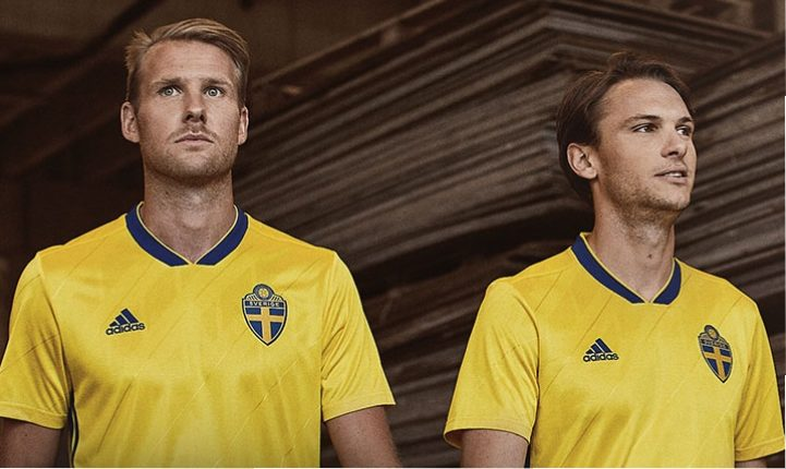 Sweden 2018 World Cup adidas Home Kit. By. Football Fashion Staff 5a66aacec