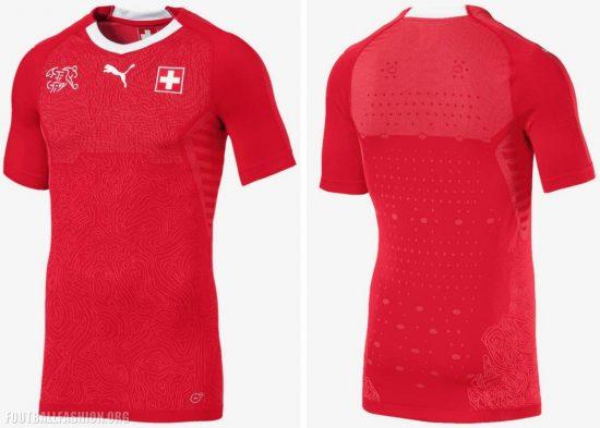 Switzerland 2018 PUMA Home Football Kit, Soccer Jersey, Shirt, Maillot, Trikot, Maglia, Gara