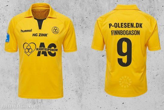 AC Horsens 2017 2018 hummel Home Football Kit, Soccer Jersey, Shirt., hjemmebanetrøje, spillertrøje