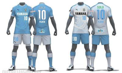 Júbilo Iwata 2018 PUMA Home and Away Football Kit, Soccer Jersey, Shirt