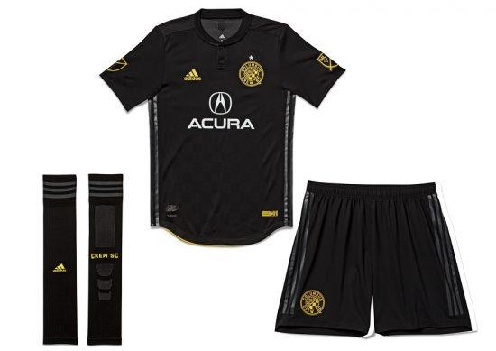 Columbus Crew 2018 adidas Black Away Soccer Jersey, Shirt, Football Kit, Camiseta de Futbol