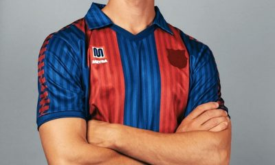 Reissue: FC Barcelona 1991 1992 Meyba Home Football Kit, Soccer Jersey, Shirt, Camiseta de Futbol