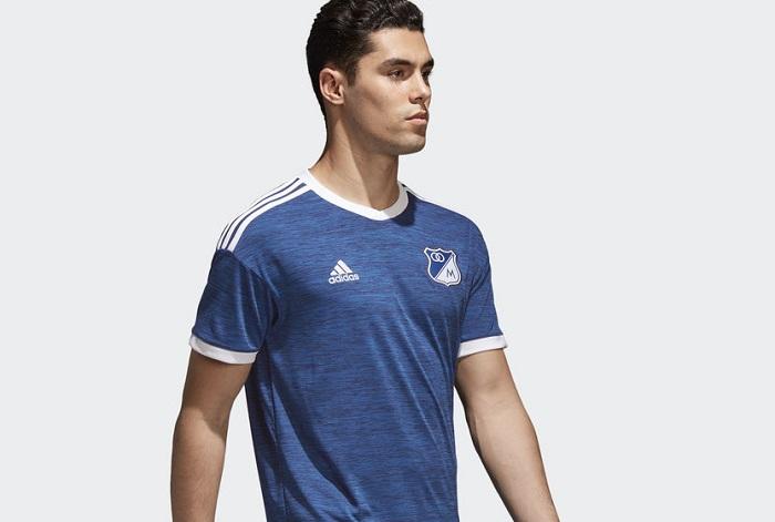 6537113849a Millonarios FC 2018 adidas Home Kit - FOOTBALL FASHION.ORG