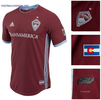 Colorado Rapids 2018 adidas Home Soccer Jersey, Football Kit, Shirt, Camiseta de Futbol MLS