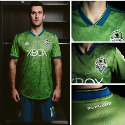 Seattle Sounders FC 2018 adidas Home Soccer Jersey, Football Kit, Shirt, Camiseta de Futbol
