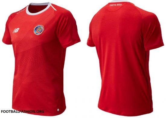 Costa Rica 2018 World Cup New Balance Red Home Football Kit, Soccer Jersey, Shirt, Camiseta de Futbol Copa Mundial Rusia, Equipacion