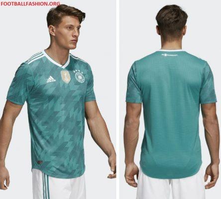 Germany 2018 FIFA World Cup adidas Green Away Football Kit, Shirt, Soccer Jersey, Trikot, Fussball-Weltmeisterschaft, Auswärtstrikot WM